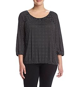 MICHAEL Michael Kors® Plus Size Scoop Neck Peasant Top