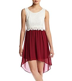 A. Byer Illusion Waist Crochet Top Dress