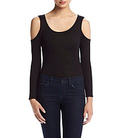Eyeshadow® Long Sleeve Solid Cold Shoulder Bodysuit