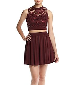 Speechless Lace Top Two-Piece Party Dress