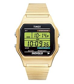 Timex® Men's Classic Digital Goldtone Expansion Band Watch
