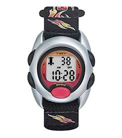 Timex® Kids Digital Black & Flames Fast Wrap Velcro Strap Watch