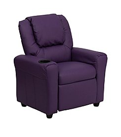 Flash Furniture Contemporary Vinyl Kids Recliner with Headrest