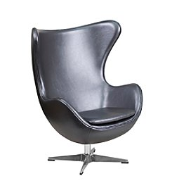 Flash Furniture Leather Egg Chair with Tilt-Lock