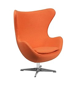 Flash Furniture Wool Egg Chair with Tilt-Lock