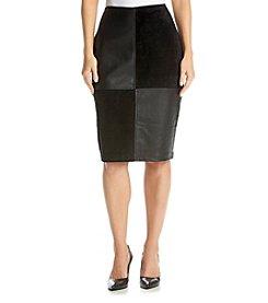 Ivanka Trump® Mixed Media Skirt
