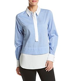 Ivanka Trump® Chambray Blouse