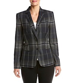 Tommy Hilfiger® Plaid Patched Blazer
