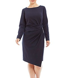 Jones New York® Plus Size Tucked Ponte Dress