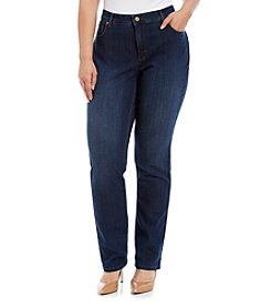 Jones New York® Plus Size Lexington Straight Leg Jeans