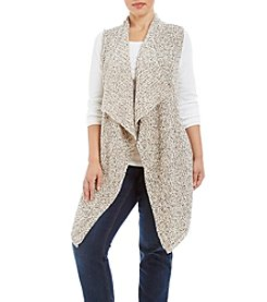 Jones New York® Plus Size Checkered Tape Sweater Vest