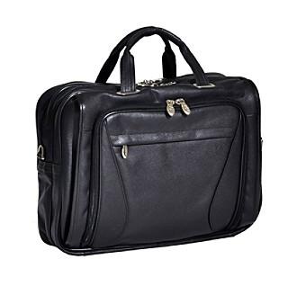 McKlein Irving Park Double Compartment Leather Laptop Case