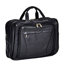 McKlein Irving Park Double Compartment Leather Laptop Case