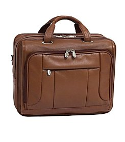 McKlein River West Leather Fly-Through Checkpoint-Friendly Laptop Case