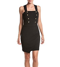 XOXO® Asymmetrical Sheath Dress With Buttons