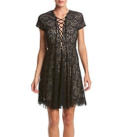 XOXO® Scallop Edge Lace Dress