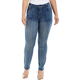 Hippie Laundry Plus Size Medium Wash Five Pocket Skinny Jeans