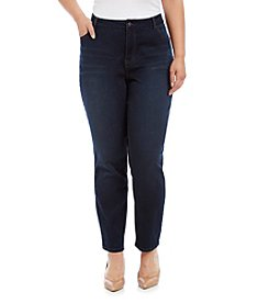 Hippie Laundry Plus Size Dark Wash Five Pocket Skinny Jeans