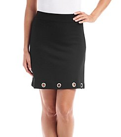 Kensie® Grommet Trim Ponte Mini Skirt