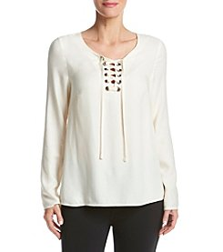 Kensie® Lace Up Top