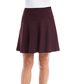 Kensie® Stretch Herringbone Mini Skirt
