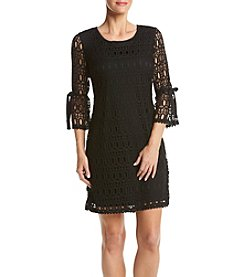 Madison Leigh® Lace Tie Matte Jersey Shift Dress