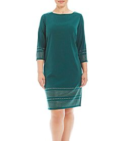 Jessica Howard® Plus Size Matte Jersey Shift Dress