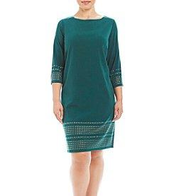 Jessica Howard® Plus Size Matte Jersey Shift Dress