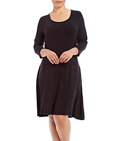 Lennie Plus Size Scoop Neck Trapeze Dress