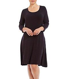 Lennie Plus Size Scoop Neck Trapeze Dress