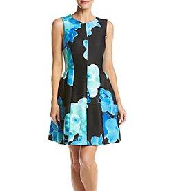 Calvin Klein Floral Scuba Dress