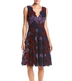 Vera Wang® Lace Floral Short Dress