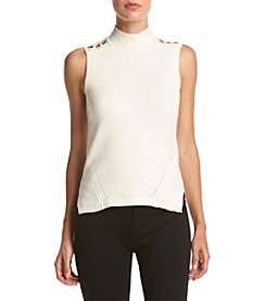 XOXO® Mixed Stitch Grommet Trim Tank Sweater