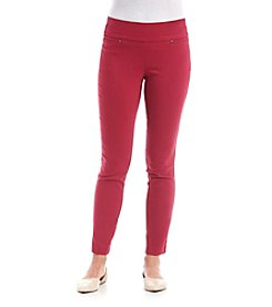 XOXO® Double Waistband Pull On Pants