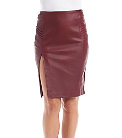 XOXO® Faux Leather Pencil Skirt