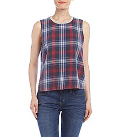 Hippie Laundry Plaid Muscle Tee