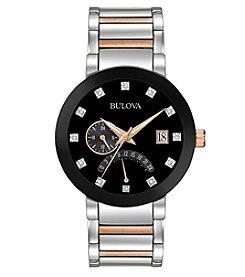 Bulova® Men's Diamond Dial Two-Tone Watch