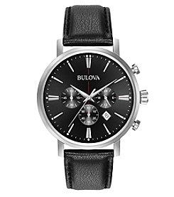 Bulova® Men's Classic Chronograph Black Dial Watch