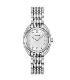 Bulova® Women's Diamond Stainless Steel Watch