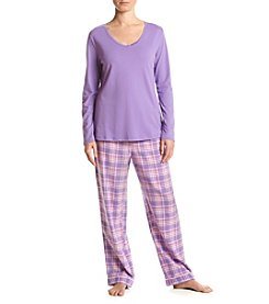Intimate Essentials® V Neck Pajama Set