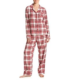Intimate Essentials ® Printed Flannel Pajama Set