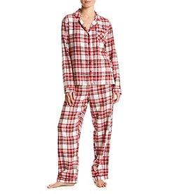 Intimate Essentials ® Printed Flannel Pajama Set
