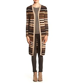 no comment® Long Striped Duster Cardigan