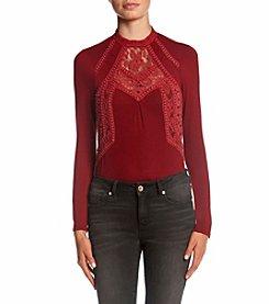 Skylar & Jade™ Long Sleeve Crochet Lace Bodysuit