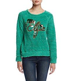 Eyeshadow® Elfie Sherpa Pullover Sweatshirt