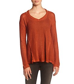Hippie Laundry ® Waffle Knit Sweater With Open Shoulders