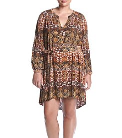 Jessica Simpson Plus Size Jaelyn Stripe Printed Dress