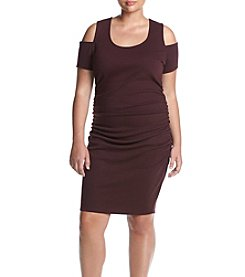 Jessica Simpson Plus Size Mara Cold Shoulder Knit Dress