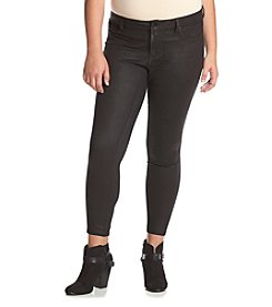 Jessica Simpson Plus Size Kiss Me Coated Faux Suede Pants