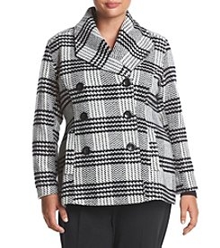 Rampage® Plus Size Brushed Plaid